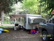 Our pull thru campsite