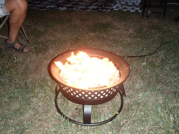 Our propane fire pit