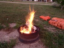 "Our first ""real"" campfire in awhile!"