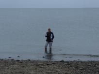 My first dip in the ocean!