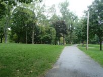 Campground road to tenting area