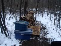 The wood pile begins!