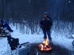 Me enjoying the fire!