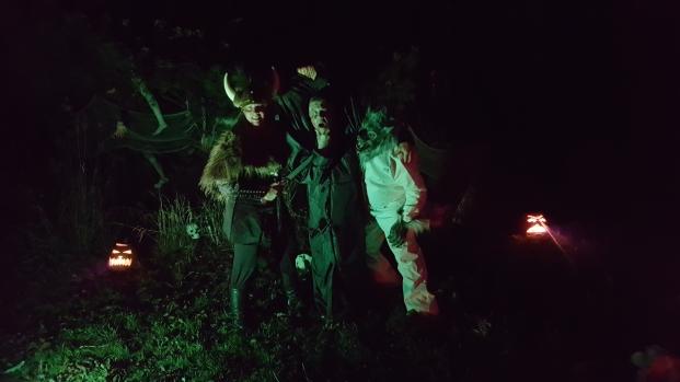 A viking, a headless hoodlum and a werewolf!