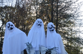Close up of the three ghosts